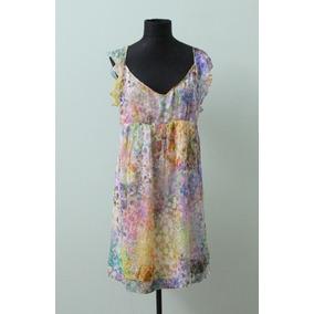 Elegante Vestido Colorido Casamiento Zara Talle L Usa