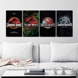 Jurassic Park Cuadros Peliculas Dinosaurios Tamaño M (x4)