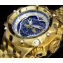 Relógio Invicta Venom Hybrid Gigante Dourado Azul Promoção
