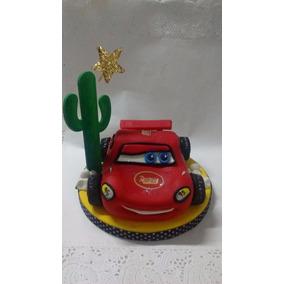 Adorno Para Torta Porcelana Fria Cars Rayo Mc Queen