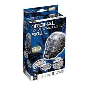 Rompecabezas Original Del Cristal 3d - Negro Del Cráneo