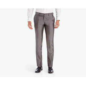 Pantalón De Vestir Wallstreet Gris Oxford Pr-1340022