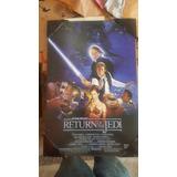 Star Wars Poster En Madera El Regreso Del Jedi