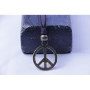 Colar Artesanal Símbolo Da Paz E Amor