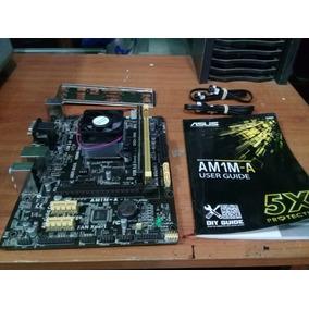 Tarjeta Asus Am1m-a + Procesador Quad Core + 4gb Ram