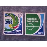 Parches Doble Copa Confederaciones Fifa 2013 Brasil