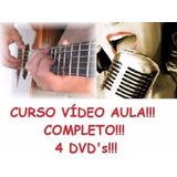 Aulas De Guitarra E Canto - Curso Em 4 Dvds, B8w