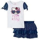 Bello Cojunto De Niña Hello Kitty Original Sanrio 6-9 Meses