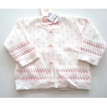 Blusa De Linho Branco Furadinha- Botão Rosa Listrado-bua