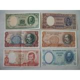 6 Billetes Antiguos De Chile