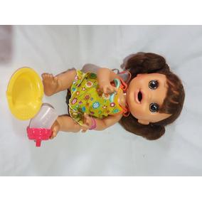 Boneca Baby Alive Morena Comer E Brincar Fala Português