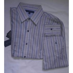 Camisa Original Tommy Hilfiger Gris Talla 32-33