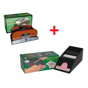 Combo Mezclador De Cartas Naipes Poker + Sabot Repartidor