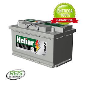 Bateria Heliar Agm 80ah Ag 80kd Para Carros C/ Start-stop