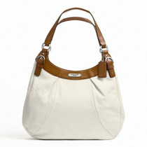 Bolsa Coach Soho Leather Hobo Large White/nutmeg F Femenino