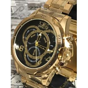 Relógio Masculino Prata Dourad Importado Top Fotos Reais