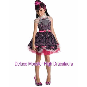 Fantasia Costume Luxo Monster High Draculaura Crianca Festas