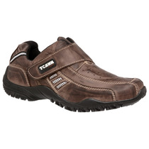 Sapatênis, Sapato Velcro, 100% Couro Masculino Black Friday