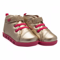 Tenis Infantil Feminino Sneaker Pampili Com Luzinha