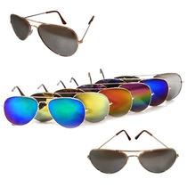 Lentes Gafas Aviador Para Dama Caballero Tornasol Moda