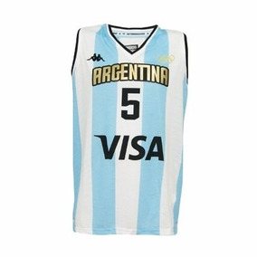 Camiseta Argentina Basquet Kappa Rio 2016 Manu Ginobili