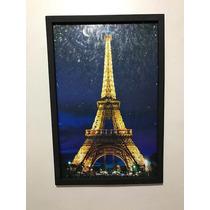 Cuadro Decorativo Paris Torre Eiffel Noche