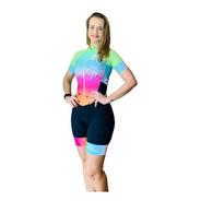 Macaquinho Ciclismo Feminino Ice Cream Verde Mc