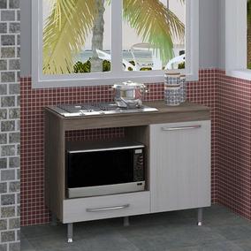 Balcão Grande De Cozinha Para Cooktop E Forno Elétrico