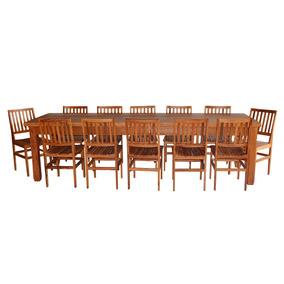 Mesa De Madeira De Demolição 3 M Com 12 Cadeiras Cambury
