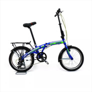 Bici Plegable Rodado 20 Aluminio 7v Shimano Accesorios M1