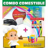 Tinta Comestible Fototortas + 100 Hojas Papel De Arroz