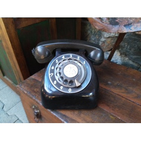 Teléfono Ericsson Baquelita Negro Antiguo Sano Década Del 50
