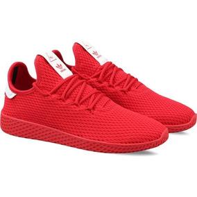 Tênis adidas Pharrell Williams Hu Lançamento 2018 Vermelho
