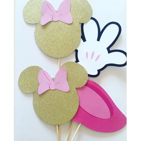 Big Toppers Para Centros De Mesa Minnie Mouse Gold Dorado