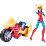 Chicas De Super Héroe De Dc Maravilla Mujer Y Moto Muñeca