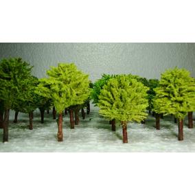 Trabalho Escolar Árvores Miniaturas C/48 Un 4a5 Cm Alt P 01