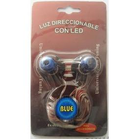 Juego Farito Azul Base Redonda Adhesiva, Con Luz Azul