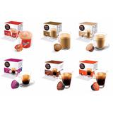 Kit Com 06 Cápsulas Nescafé Dolce Gusto Café Espresso Nescau