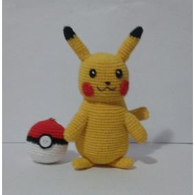 Boneco (amigurumi) Do Pikachu + Pokebola De Croche