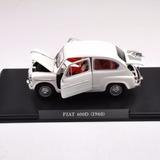 Fiat 600 1960 Coleccion Auto Vintage Esc 1/24 13,5 Cm X 6 Cm