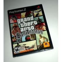 Grand Theft Auto San Andreas Gta Original Lacrado - Ps2