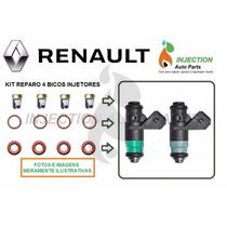 Kit Reparo 4 Bicos Renault Megane Scenic Laguna 2.0 16v