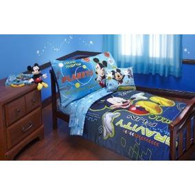 Juego De Cama De Disney Mickey Mouse 4 Piezas
