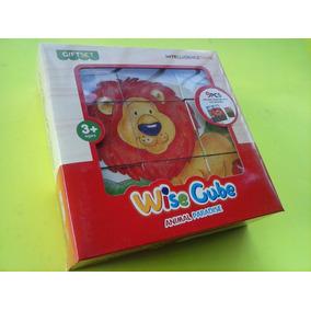 Rompecabeza De Cubos 6 En 1 Animalitos Juego Didactico Niños