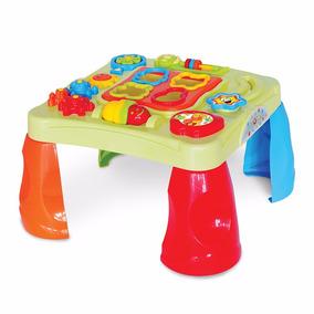 Mesa De Atividades Para Bebe Criança Com Som E Encaixe