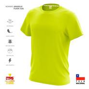 Polera Deportiva Dry Fit Antitranspirante Amarillo Fluor