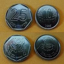 Moedas Fao 1995 10 E 25 Centavos ** Fc Absolutas
