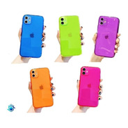 Funda Protector iPhone Candy Neon Resistente Airbag Case 3d