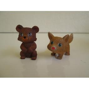 Oso Y Zorro Tiernas Mini Figuras / Animales