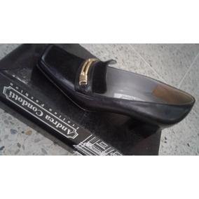 Zapatos De Damas Marca Andrea Condotti Nro 36 Color Negro